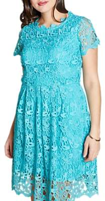 Yumi Curves Guipure Lace Dress, Jade