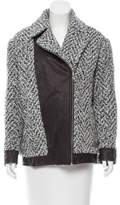 Thakoon Bouclé Leather-Trimmed Jacket w/ Tags
