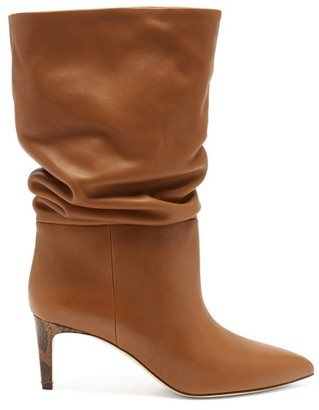 Paris Texas Slouchy Leather Boots - Tan