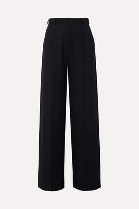 Rokh Twill Wide-leg Pants - Navy