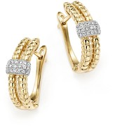 KC Designs Diamond Double Row Hoop Earrings in 14K Yellow Gold, .18 ct. t.w. - 100% Exclusive