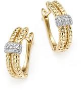 KC Designs Diamond Double Row Hoop Earrings in 14K Yellow Gold, .18 ct. t.w.