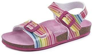 Agatha Ruiz De La Prada Girls' 182982 Open Toe Sandals, Multicoloured (Striped Pattern), 13UK Child