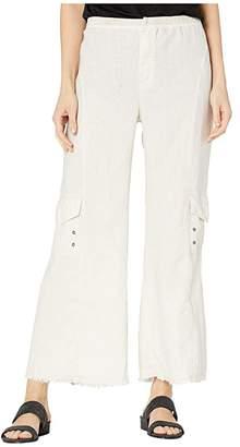 XCVI Rustic Cargo Crop Pants in Linen (Toasted Almond) Women's Casual Pants