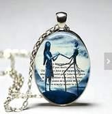 ASA Oval The Nightmare Before Christmas glass dome pendant ( or bronze) (Jack Skellington, Sally, quote, moon, Tim Burton, love)