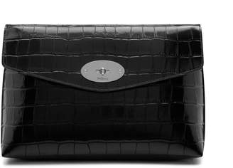 Mulberry Large Darley Cosmetic Pouch Black Croc Print