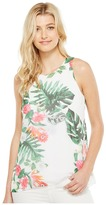 Vince Camuto Sleeveless Havana Tropical High-Low Hem Blouse Women's Blouse