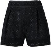 Miu Miu perforated flowers shorts
