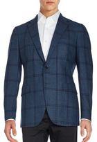 Boglioli Plaid Long Sleeve Woolen Jacket