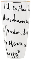 Kate Spade Daisy Place Vase 23cm 'I'd Rather Be'