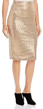 Donna Karan Sequined Midi Skirt