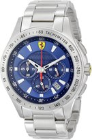 Ferrari Men's 830049 Analog Display Japanese Quartz Silver Watch