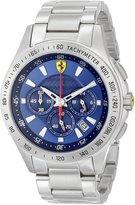 Ferrari Men's 830049 Analog Display Japanese Quartz Silver Watch