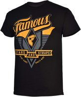Famous Stars & Straps Mens Varsity T-Shirt-Black