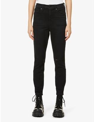 Good American Good Waist Crop skinny high-rise stretch-denim jeans