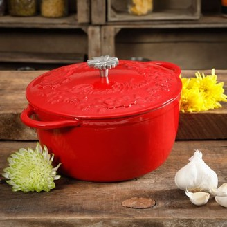 The Pioneer Woman Timeless Beauty 5-Quart Dutch Oven, Red