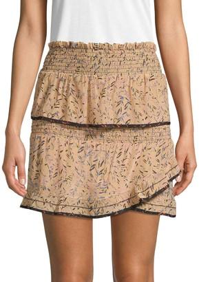 Iro . Jeans Jully Tiered Ruffle Mini Skirt