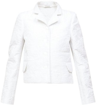Cecilie Bahnsen Mara Single-breasted Quilted-satin Jacket - White