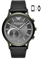 Emporio Armani Renato Hybrid Leather Strap Watch, 43mm