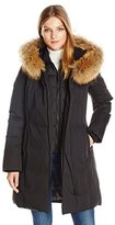 Soia & Kyo Women's Salma-f6 Classic Down Coat with Racoon Fur Trim Hood