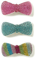 Copper Key 3-Pack Rhinestone Multi-Colored Hair Bows