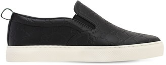 Gucci 50MM SIGNATURE LEATHER SLIP-ON SNEAKERS