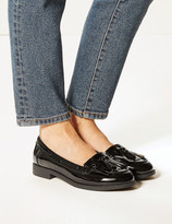 Marks and Spencer Wide Fit Patent Tassel Loafers