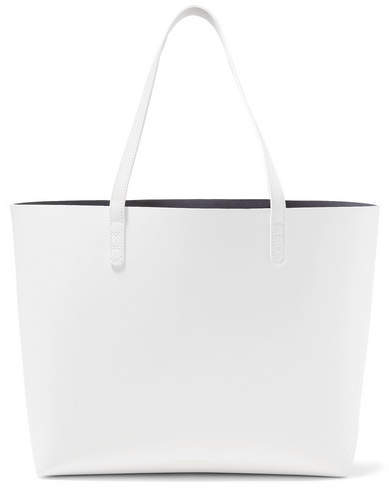Mansur Gavriel Large Leather Tote - White