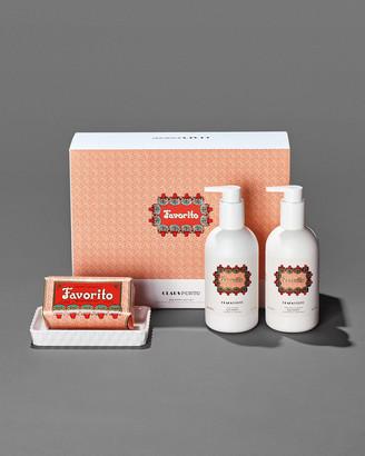 Claus Porto FAVORITO Liquid Soap+Body Moisturizer+Soap Gift Set