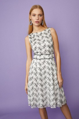 Coast Floral Lace Midi With Belt Detail