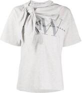 Alexander Wang tie neck logo T-shirt