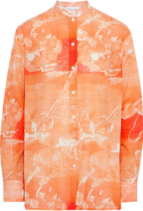 Victoria Beckham Printed Cotton-voile Shirt