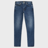 Paul Smith Men's Slim-Fit Red-Cast Mid-Wash Jeans