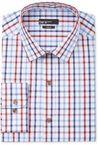 Bar III Men's Slim-Fit Blue White Plaid Dress Shirt, Only at Macy's