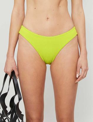 Roxy Sister Collection Hailey Bieber x Kelia Moniz neon high-rise bikini bottoms