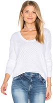 Autumn Cashmere Snake Stitch Scoop Sweater in White. - size L (also in )