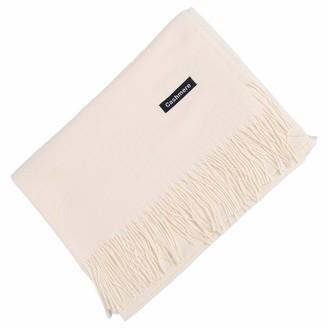 London Scarves Cashmere wrap stole shawls soft cozy quality pashmina unisex (cream)