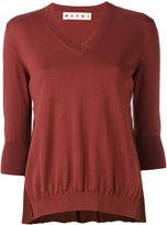 Marni V-neck sweater - women - Cotton/Acetate/Silk - 44