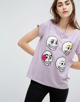 Cheap Monday Multi-Skull T-Shirt