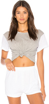 Wildfox Couture Boxy Tee in Gray. - size L (also in M,S,XS)
