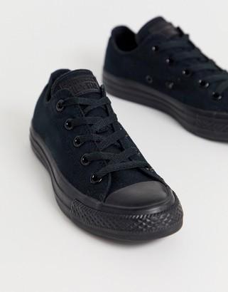 Converse Chuck Taylor All Star Ox black monochrome sneakers