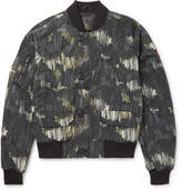 Canada Goose Faber Printed Canvas Bomber Jacket - Gray