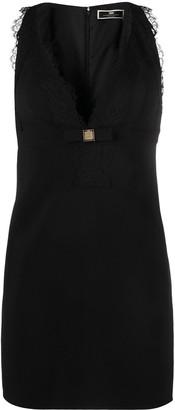 Elisabetta Franchi Lace-Trim Sleeveless Dress