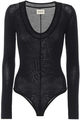KHAITE Clover stretch-wool bodysuit