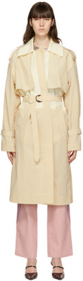 Kijun Beige Wing Trench Coat