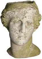 "Orlandi Statuary 14"" Venus Head Planter - White Moss"