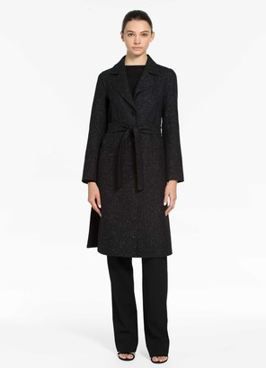 St. John Double Face Knit Collar Coat