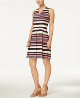 Charter Club Striped Fit & Flare Dress, Only at Macy's