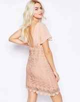 Traffic People Carry On Crochet Backless Dress