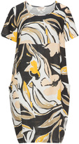 Isolde Roth Plus Size Printed linen dress